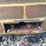 Broken air brick cover